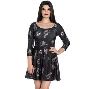 Hell Bunny - Skulls and Roses Dress - Size XL